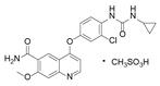 甲磺酸乐伐替尼结构式
