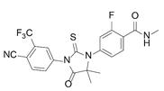 恩杂鲁胺结构式